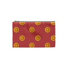 Oranges Lime Fruit Red Circle Cosmetic Bag (small)