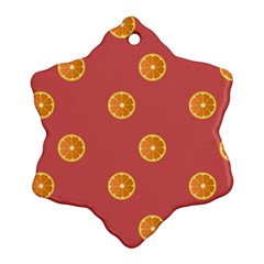 Oranges Lime Fruit Red Circle Ornament (snowflake)
