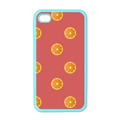 Oranges Lime Fruit Red Circle Apple iPhone 4 Case (Color)