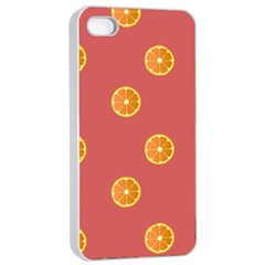 Oranges Lime Fruit Red Circle Apple Iphone 4/4s Seamless Case (white)
