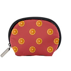 Oranges Lime Fruit Red Circle Accessory Pouches (Small)