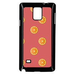 Oranges Lime Fruit Red Circle Samsung Galaxy Note 4 Case (Black)