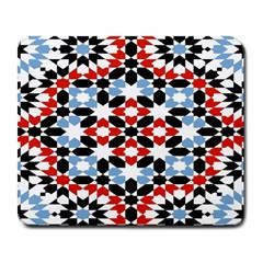 Oriental Star Plaid Triangle Red Black Blue White Large Mousepads