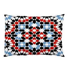 Oriental Star Plaid Triangle Red Black Blue White Pillow Case (Two Sides)