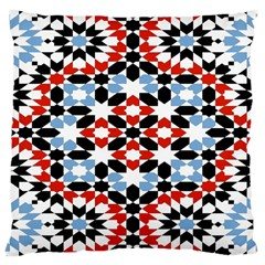 Oriental Star Plaid Triangle Red Black Blue White Large Cushion Case (two Sides)