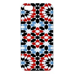 Oriental Star Plaid Triangle Red Black Blue White Apple iPhone 5 Premium Hardshell Case