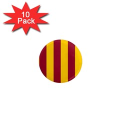 Red Yellow Flag 1  Mini Magnet (10 Pack)