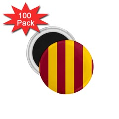Red Yellow Flag 1.75  Magnets (100 pack)