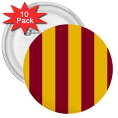 Red Yellow Flag 3  Buttons (10 pack)