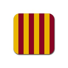 Red Yellow Flag Rubber Coaster (square)