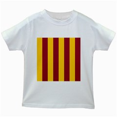 Red Yellow Flag Kids White T Shirts