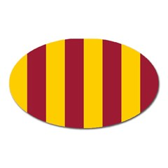 Red Yellow Flag Oval Magnet