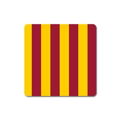 Red Yellow Flag Square Magnet