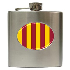 Red Yellow Flag Hip Flask (6 oz)