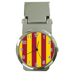 Red Yellow Flag Money Clip Watches