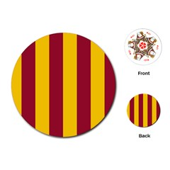 Red Yellow Flag Playing Cards (Round)