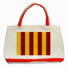 Red Yellow Flag Classic Tote Bag (Red)