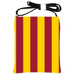 Red Yellow Flag Shoulder Sling Bags