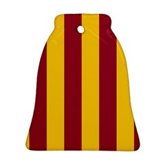 Red Yellow Flag Bell Ornament (two Sides)