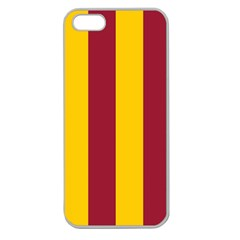Red Yellow Flag Apple Seamless iPhone 5 Case (Clear)