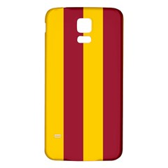 Red Yellow Flag Samsung Galaxy S5 Back Case (White)