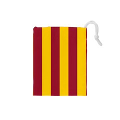 Red Yellow Flag Drawstring Pouches (Small)