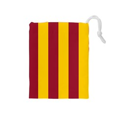 Red Yellow Flag Drawstring Pouches (Medium)