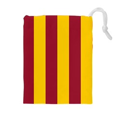 Red Yellow Flag Drawstring Pouches (Extra Large)