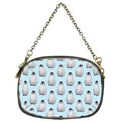 Penguin Animals Ice Snow Blue Cool Chain Purses (Two Sides)