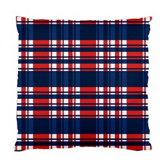 Plaid Red White Blue Standard Cushion Case (One Side)