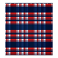 Plaid Red White Blue Shower Curtain 66  X 72  (large)