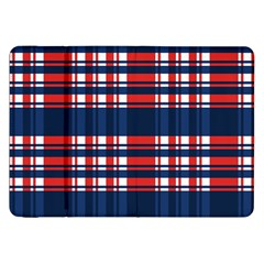 Plaid Red White Blue Samsung Galaxy Tab 8.9  P7300 Flip Case