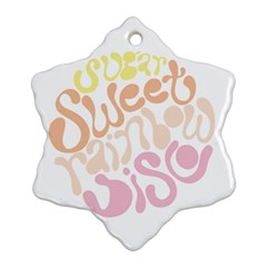 Sugar Sweet Rainbow Snowflake Ornament (Two Sides)
