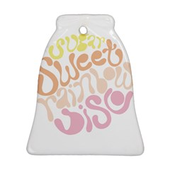 Sugar Sweet Rainbow Bell Ornament (Two Sides)