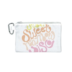 Sugar Sweet Rainbow Canvas Cosmetic Bag (S)