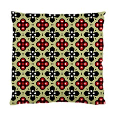 Seamless Floral Flower Star Red Black Grey Standard Cushion Case (Two Sides)