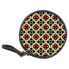 Seamless Floral Flower Star Red Black Grey Classic 20-CD Wallets