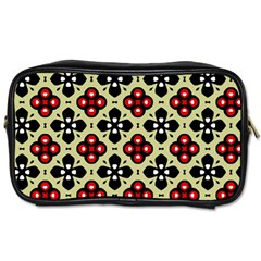 Seamless Floral Flower Star Red Black Grey Toiletries Bags 2-Side