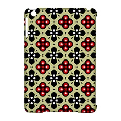 Seamless Floral Flower Star Red Black Grey Apple iPad Mini Hardshell Case (Compatible with Smart Cover)