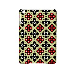 Seamless Floral Flower Star Red Black Grey iPad Mini 2 Hardshell Cases