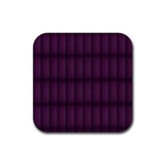 Plaid Purple Rubber Coaster (square)