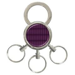 Plaid Purple 3 Ring Key Chains
