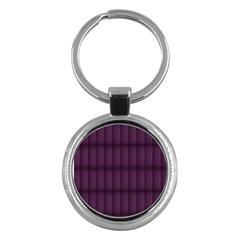 Plaid Purple Key Chains (Round)
