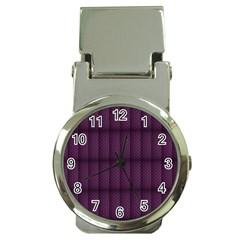 Plaid Purple Money Clip Watches