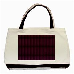 Plaid Purple Basic Tote Bag (Two Sides)