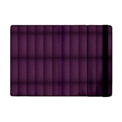 Plaid Purple Apple iPad Mini Flip Case