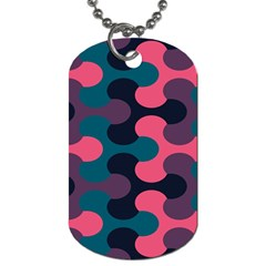 Symmetry Celtic Knots Contemporary Fabric Puzzel Dog Tag (two Sides)
