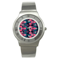 Symmetry Celtic Knots Contemporary Fabric Puzzel Stainless Steel Watch