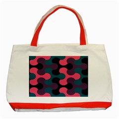 Symmetry Celtic Knots Contemporary Fabric Puzzel Classic Tote Bag (Red)