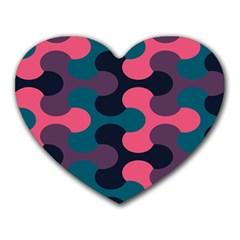 Symmetry Celtic Knots Contemporary Fabric Puzzel Heart Mousepads